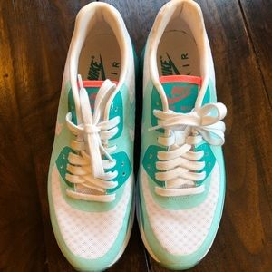 Nike AirMax- Teal, pink, and white